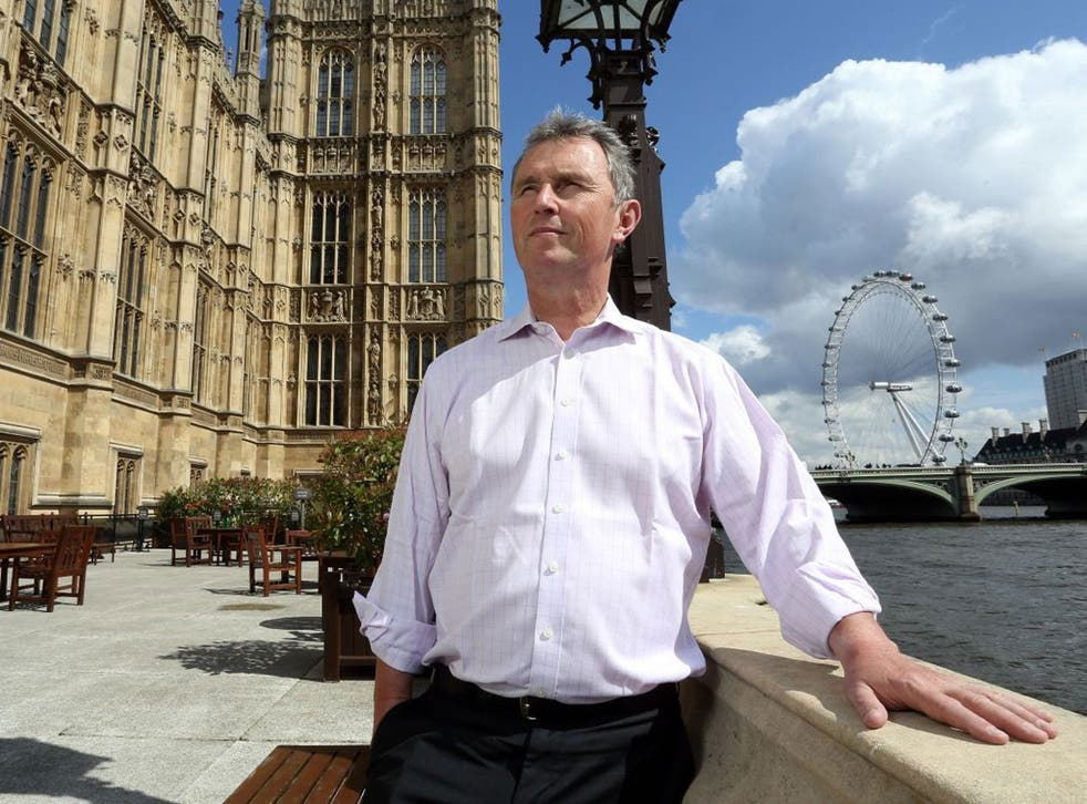 Nigel Evans, the Conservative MP for Ribble Valley and former Deputy Speaker, at the Houses of Parliament; he describes his arrest and trial as 'traumatic'