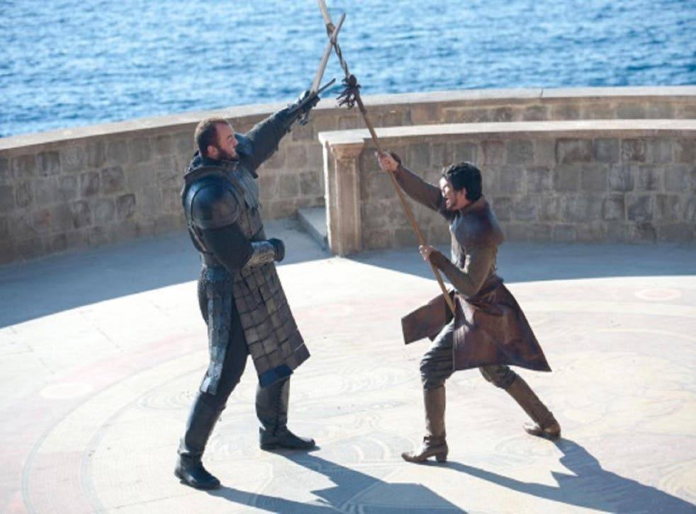 The Mountain and the Red Viper do battle to determine the outcome of Tyrion's trial
