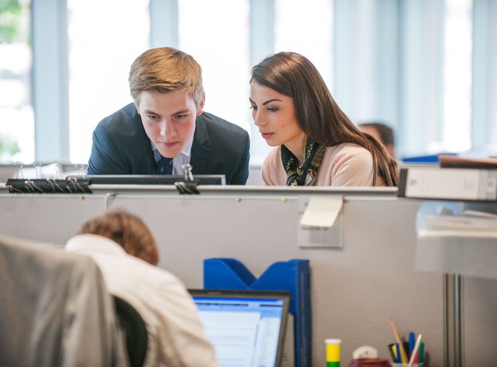 Companies provide help, support and sympathetic ears for new recruits in the shape of mentors and managers