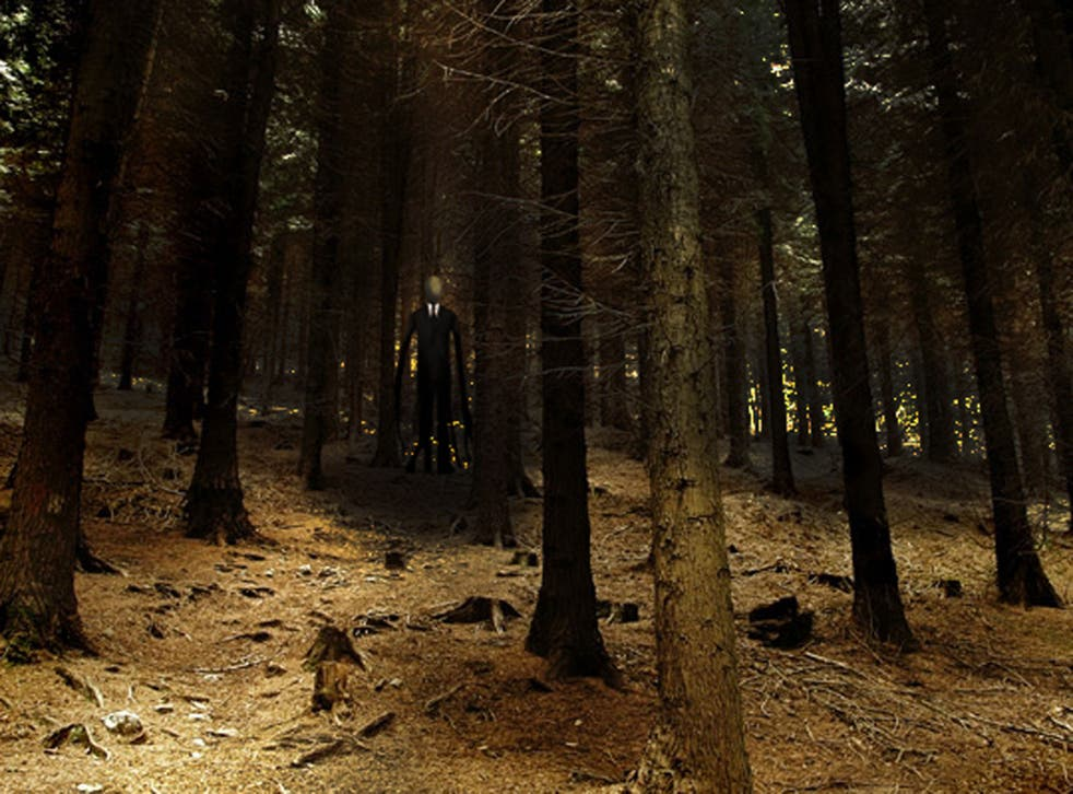 The 911 call made by a cyclist who discovered a girl lying on the road after being attacked by her classmates in a disturbing tribute to the mythological internet character Slender Man has been released by police.
