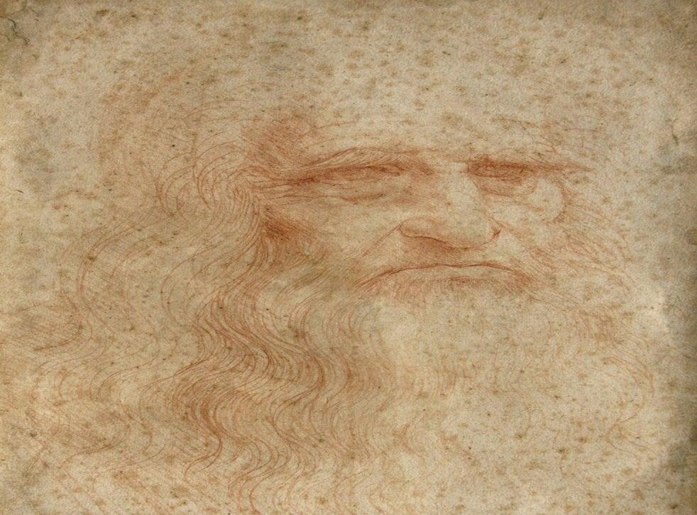 The Leonardo da Vinci self-portrait, which scientists believe is gradually vanishing as the red-chalk image fades