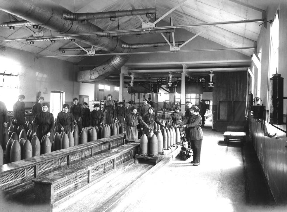 Filling shells at the Vickers munitions factory, Barrow-in-Furness. Strikers' grievances included the use of female labour