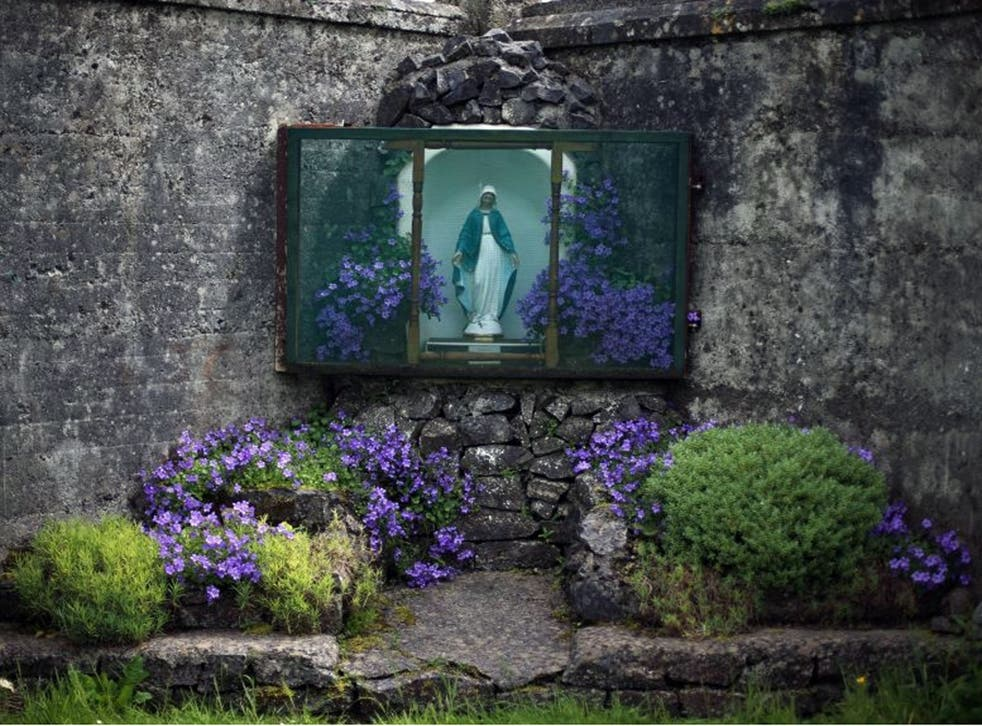 The site of a mass grave for children who died in the Tuam mother and baby home, Galway, as the Irish Government has bowed to national and international pressure over the scandal of the death of 4,000 babies who were buried in unmarked, unconsecrated and
