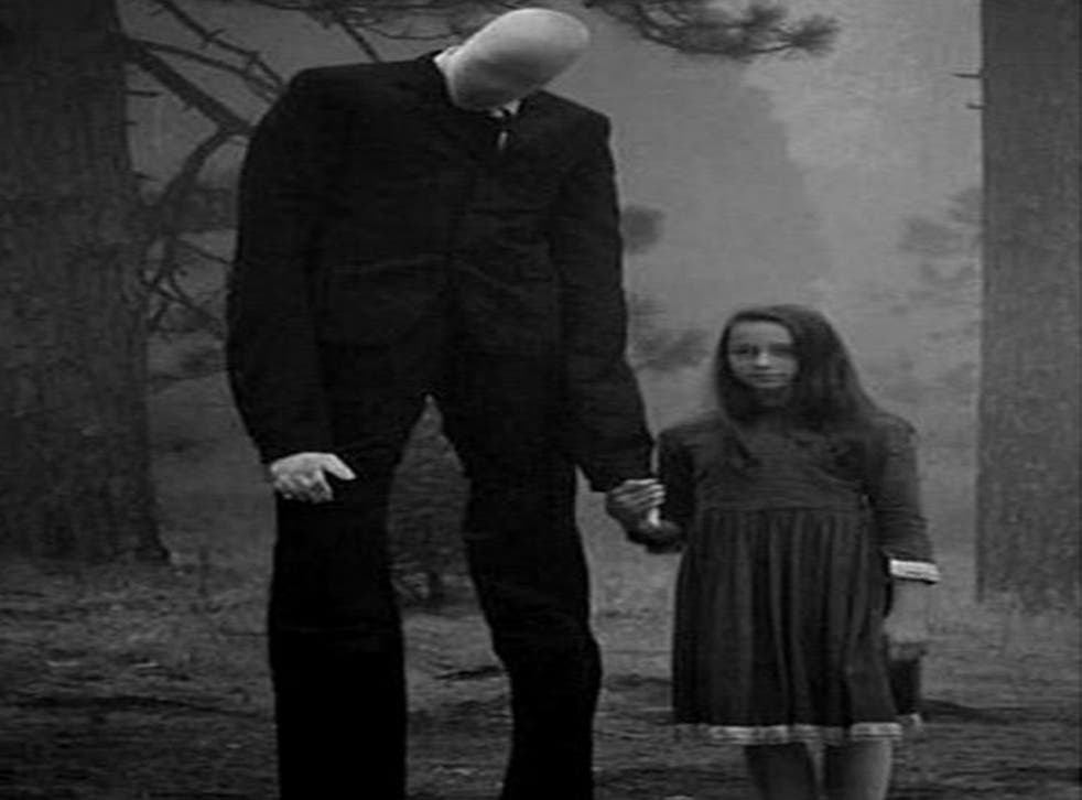 Slenderman was crafted as a lanky man, with a featureless face, sometimes with tentacles protruding from his back, who would stalk and abduct children before murdering them in the woods