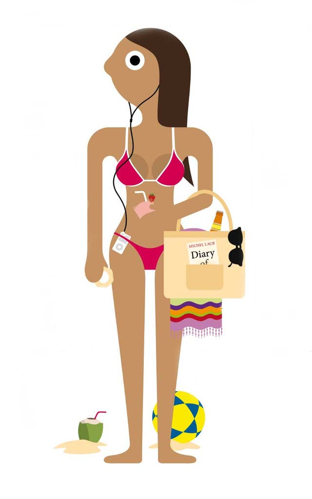Minuscule bikinis are standard-issue for women - and leave your towel at home!
