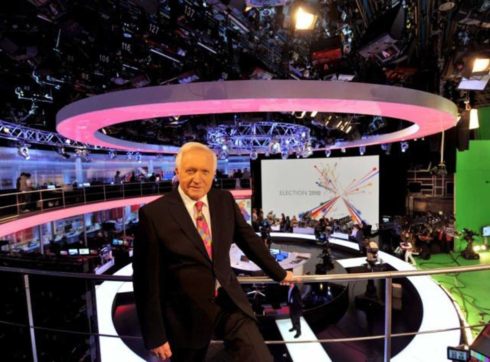 Direct line:David Dimbleby's mastery of election nights makes him one of few modern broadcasters who fulfils the idealism of Lord Reith