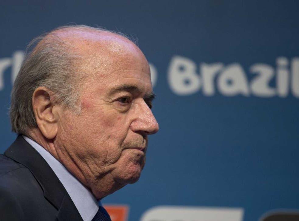 Fifa's president Sepp Blatter