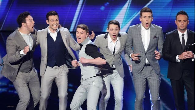 English boyband Collabro celebrate winning BGT with their musical theatre performances.