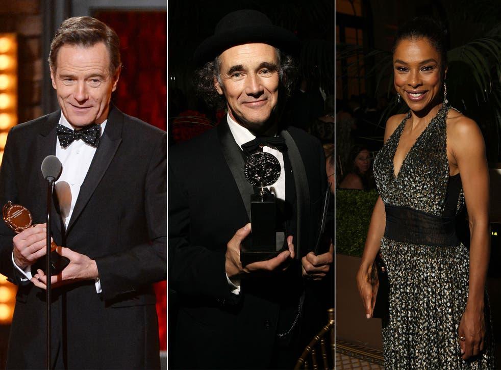 Bryan Cranston, Mark Rylance and Sophie Okonedo were among those honoured at the Tony Awards 2014