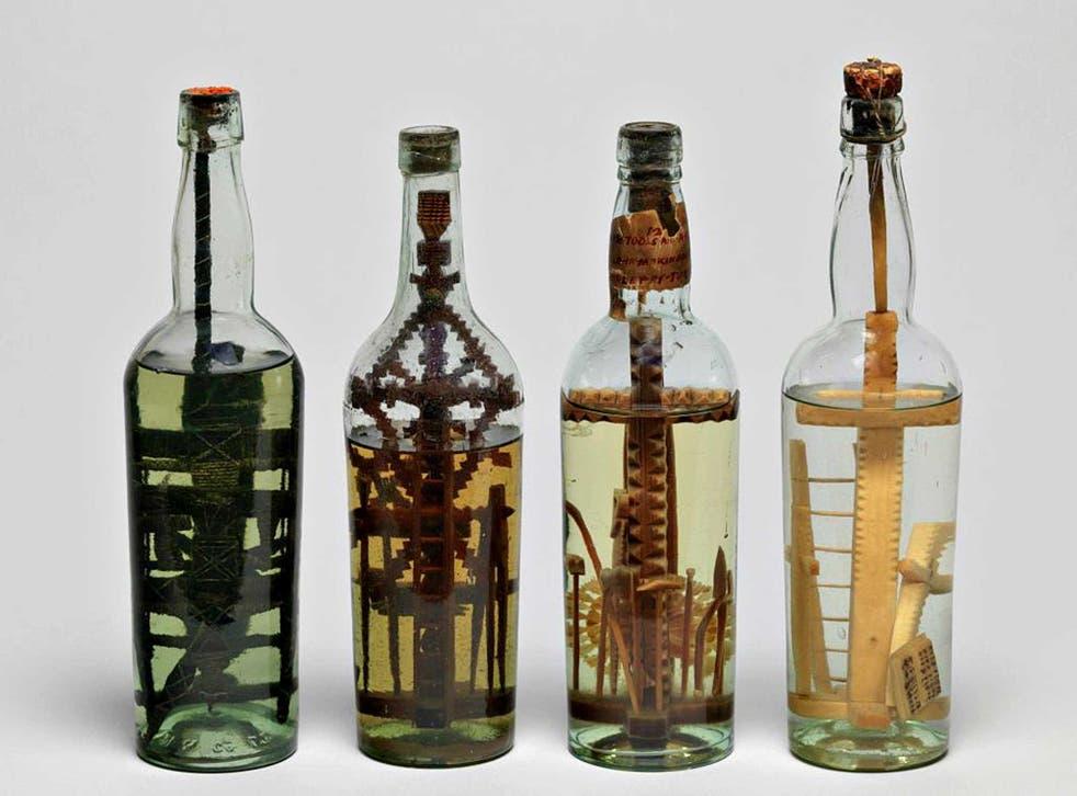 Cross patch: four gods-in-a- bottle