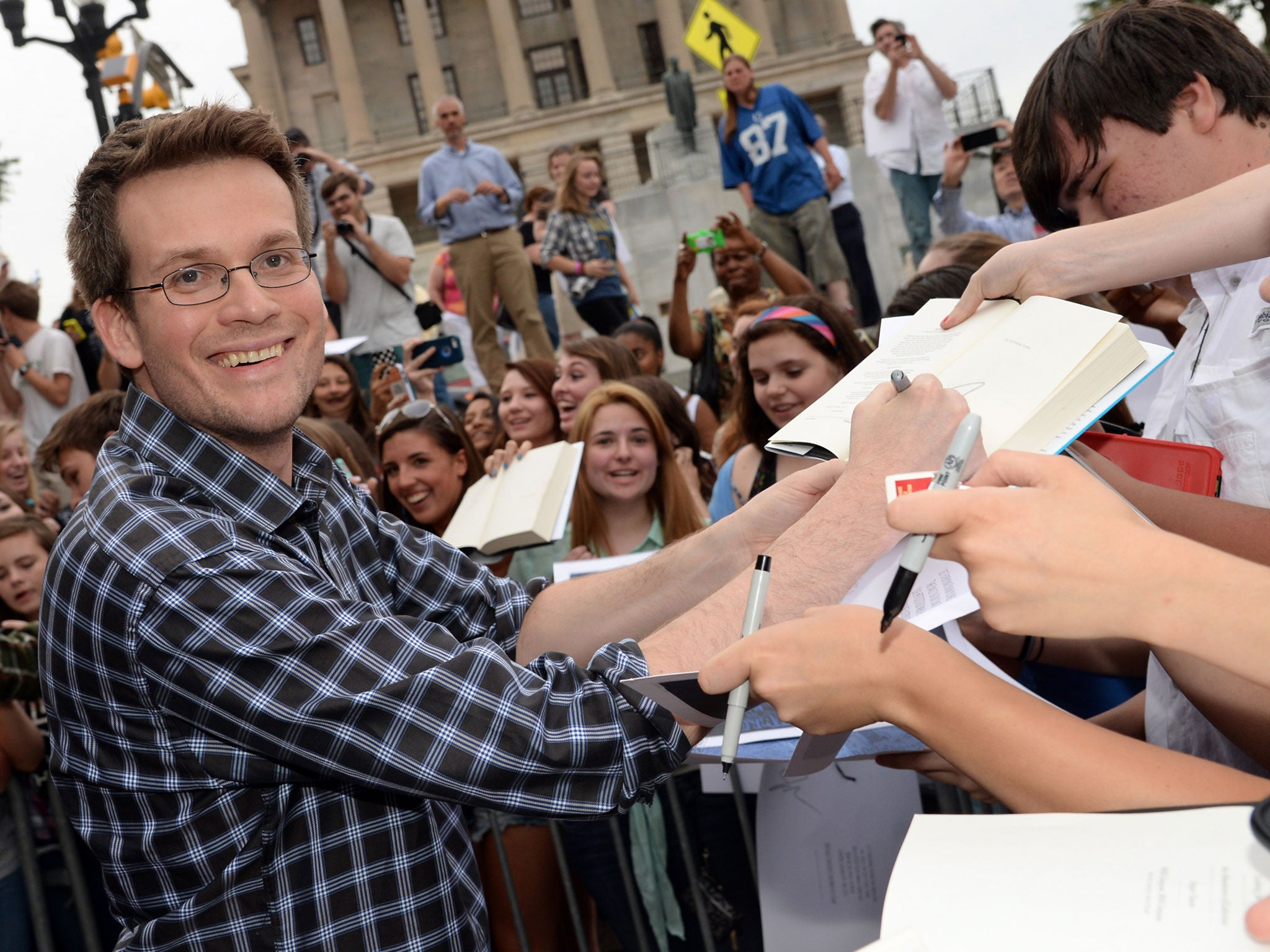 Fault in our Stars author John Green praised by fans for talking honestly about dealing with mental illness