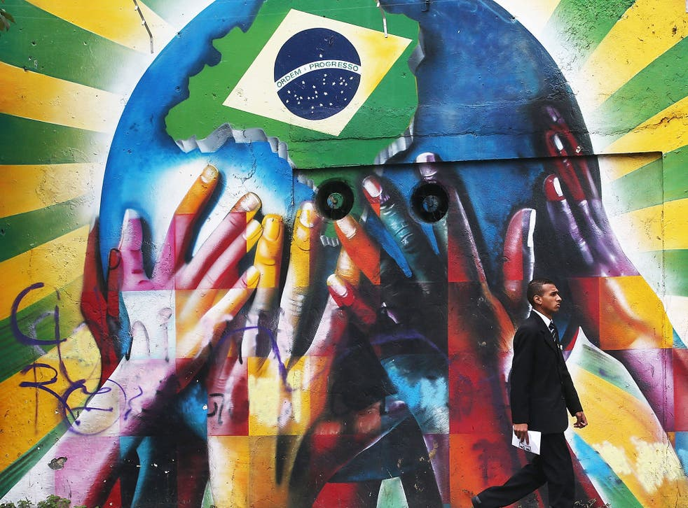 Brazil's World Cup street art ranges from the positive to the darkly political