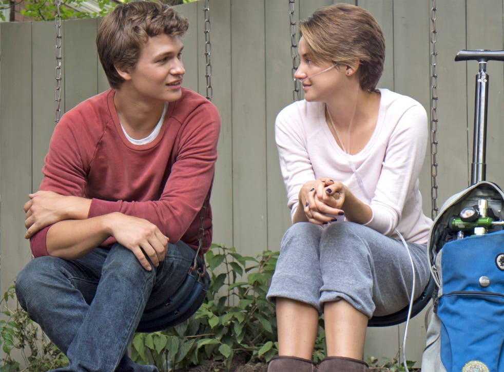 In the swing: Ansel Elgort and Shailene Woodley in the film of John Green's 'The Fault in Our Stars'