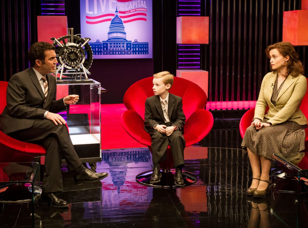 Wonder boy: Rick Mercer, Kyle Catlett and Helena Bonham Carter in 'T.S. Spivet'