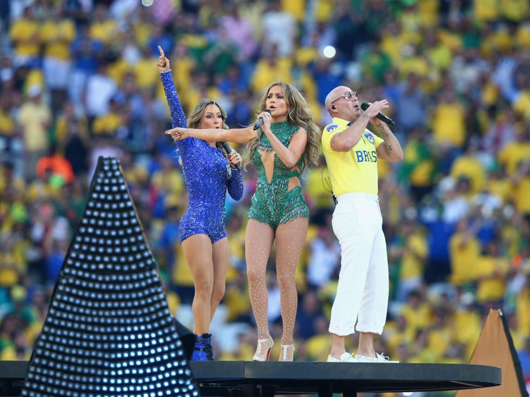World Cup Opening Ceremony Pitbull Jennifer Lopez And Claudie - 10 weird parts world cup opening ceremony