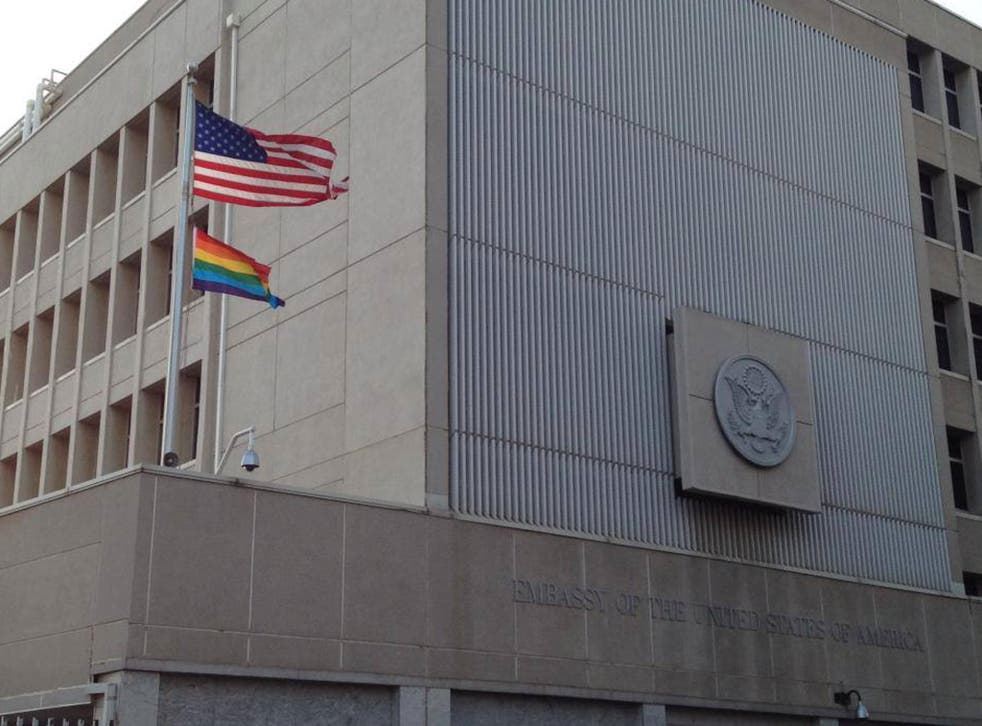 The US embassy in Tel Aviv faced a backlash of criticism after it raised the rainbow flag next to the American flag above its office for the first time in history earlier this week.