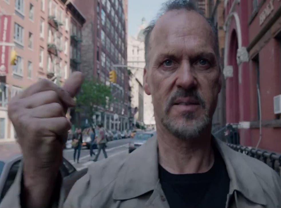 Michael Keaton stars as a washed-up superhero actor in Alejandro González Iñárritu's self-reflexive film 'Birdman'