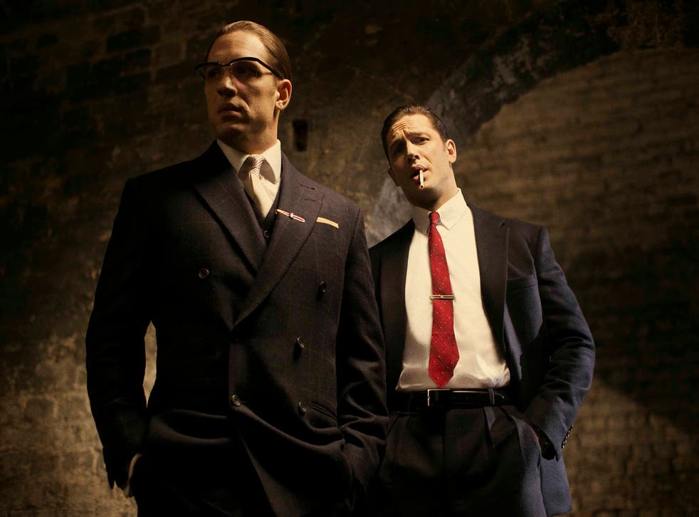 Tom Hardy as Ronnie (left) and Reggie Kray in new film 'Legend'