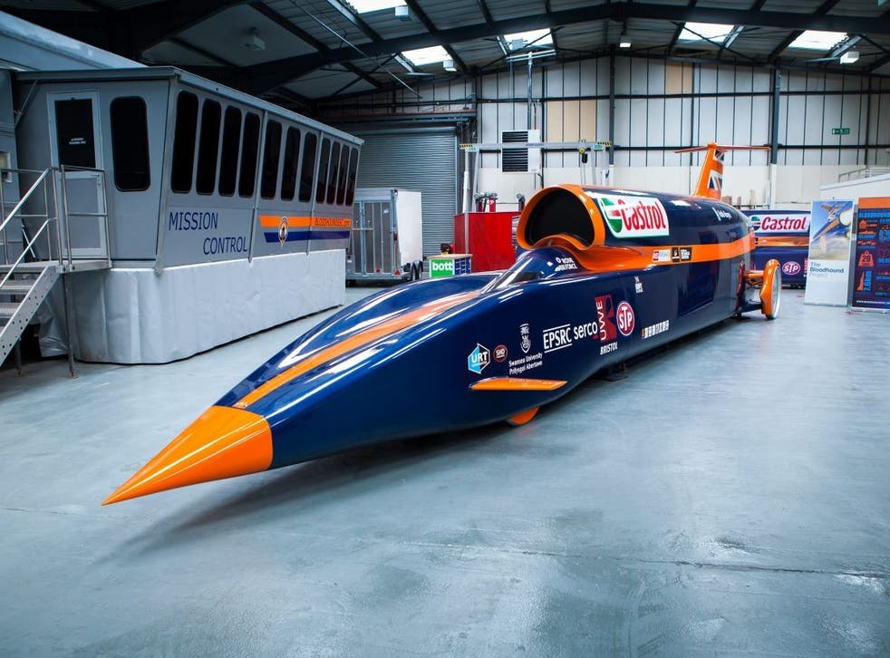 A full-scale model of the Bloodhound SSC.