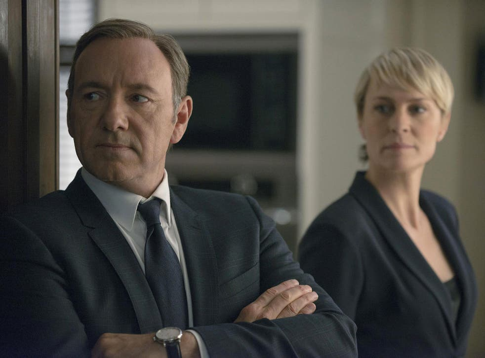Kevin Spacey and Robin Wright in Netflix original series House of Cards