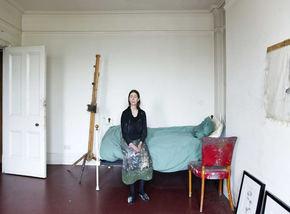 Paul's flat-come-studio is a spartan space bought for her by Freud when they were an item