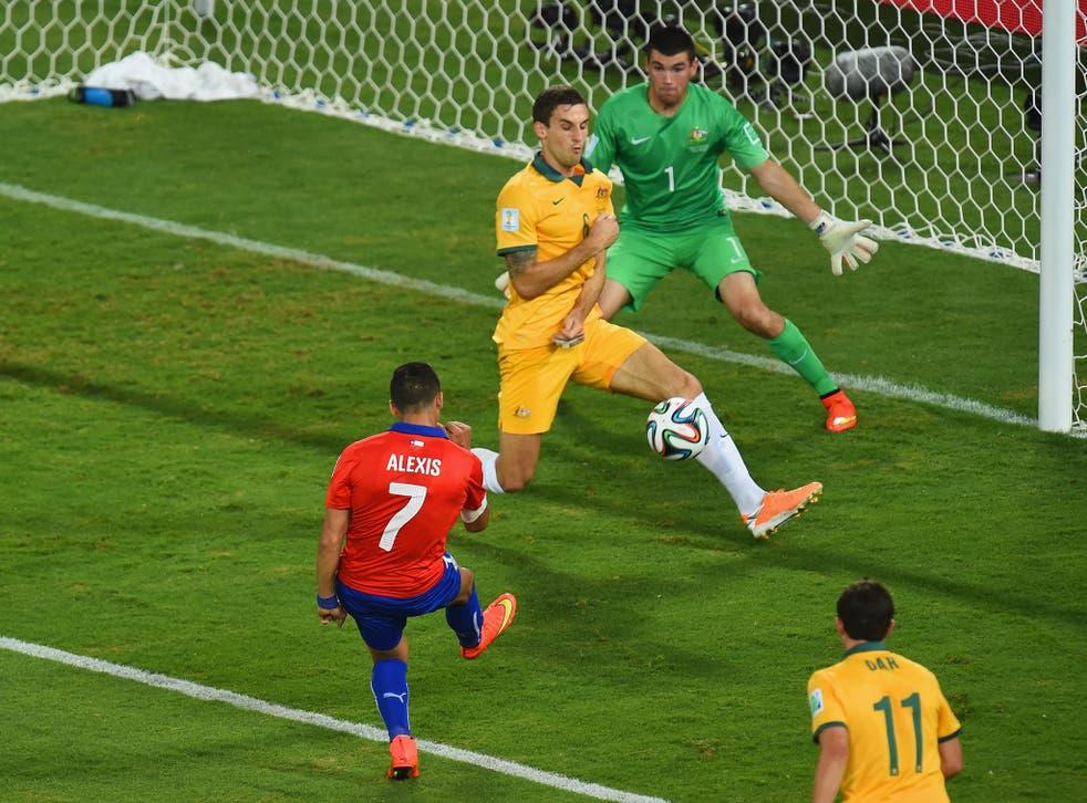 The Chile forward Alexis Sanchez