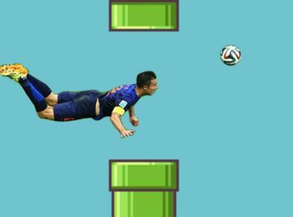 Robin van Persie's phenomenal goal has been given the Mario treatment