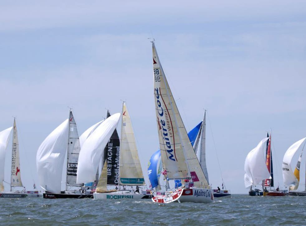 The Figaro solo race has experienced a slow start with two sailors battling for the lead