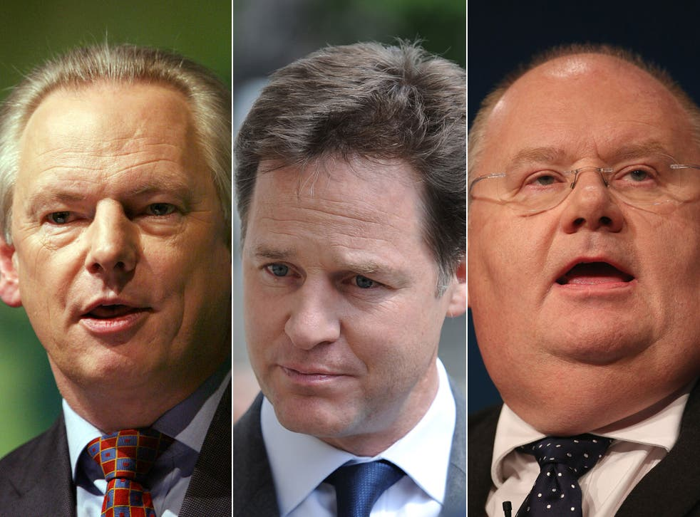 """Lib Dem sources revealed that Francis Maude, left, Eric Pickles, right, and other Tory ministers are trying to end the process of """"check off"""""""
