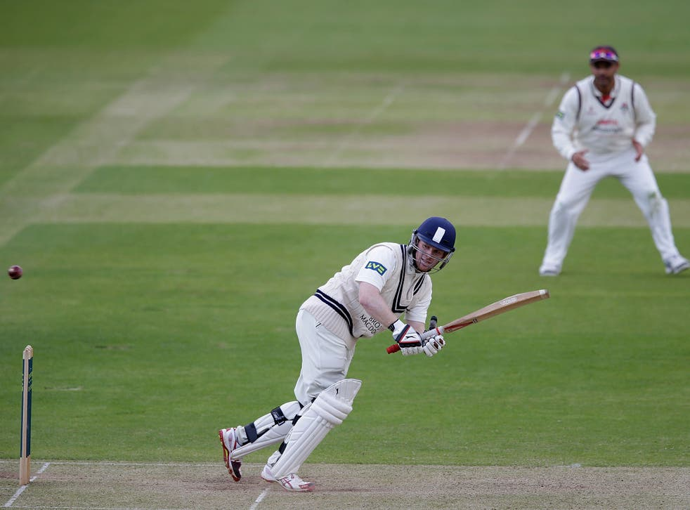Eoin Morgan, together with Chris Rogers, added 272 at more than five an over for the third wicket