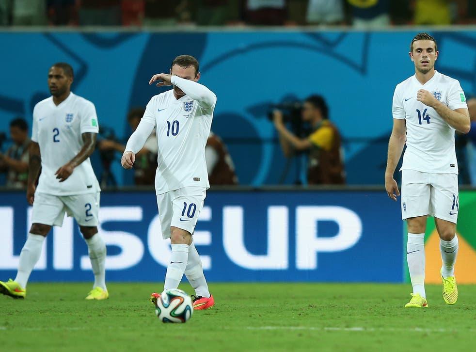 England look despondent after going behind