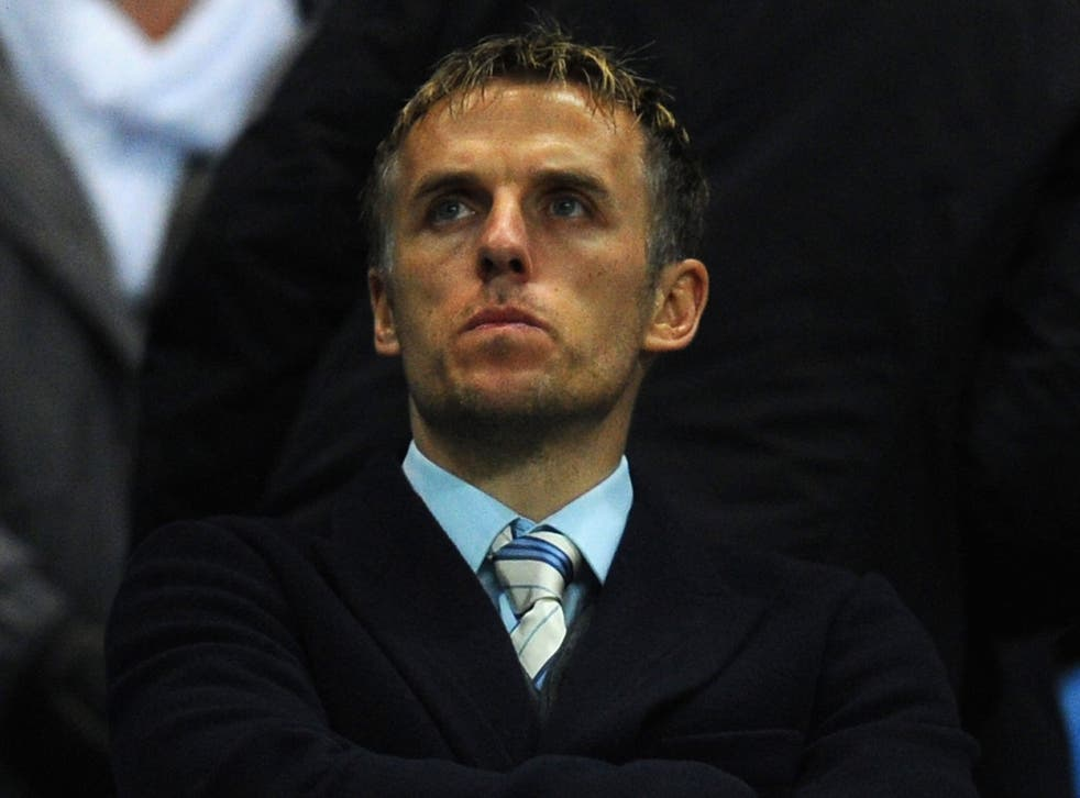 Phil Neville received a torrent of abuse on Twitter after his BBC commentating debut