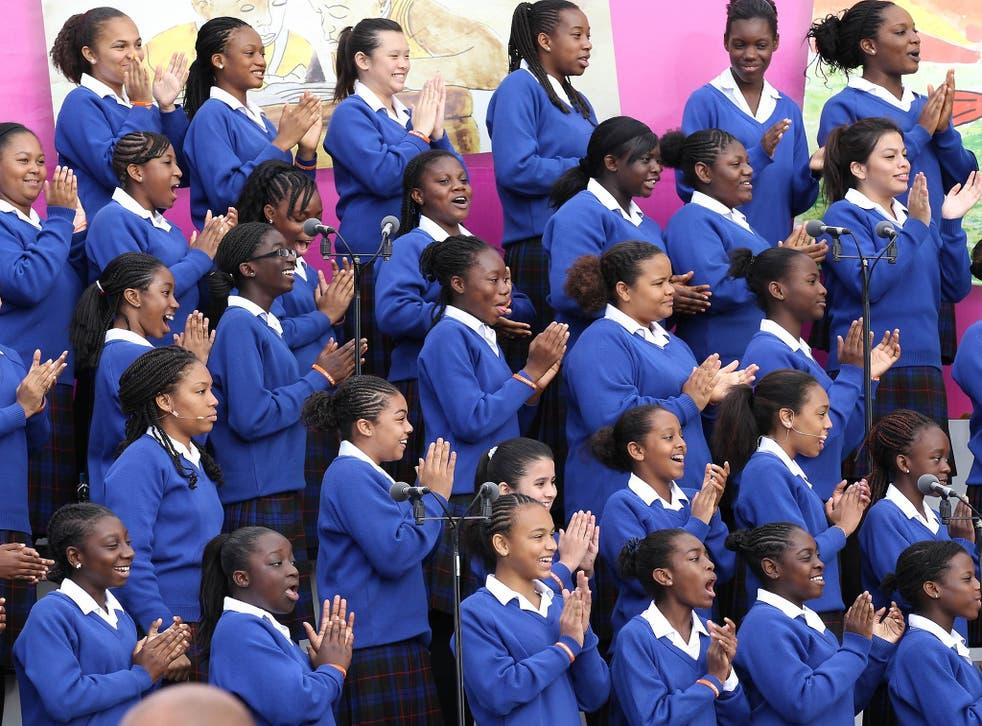 Members of the Maria Fidelis Roman Catholic School in London