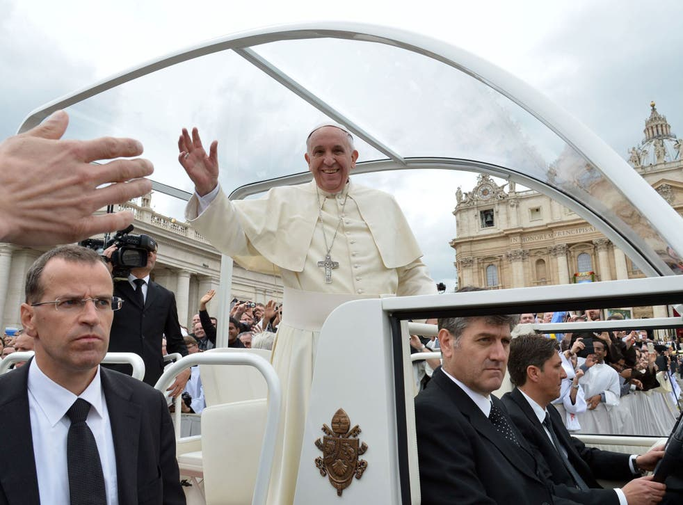 Pope Francis agreed to use the Popemobile in April in Rome