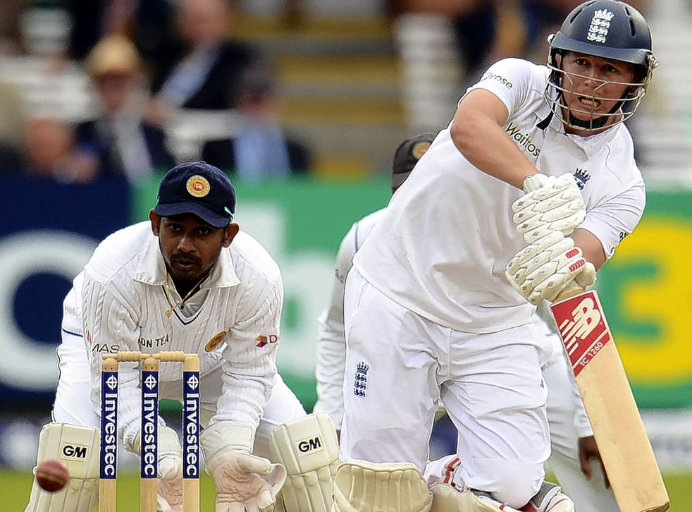 Gary Ballance on his way to a century while
