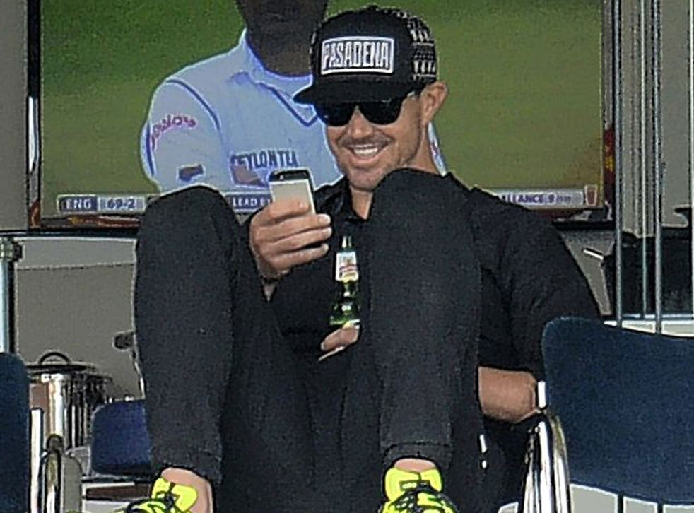 Kevin Pietersen at Lord's on Sunday