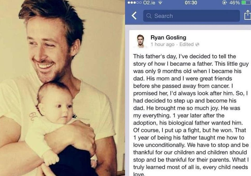 5f93e0a4035 Ryan Gosling Father s Day adopted baby hoax fools one million ...