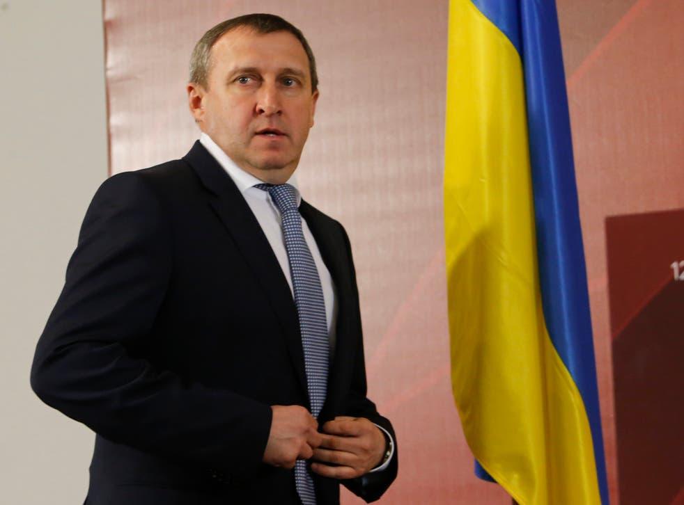 "Andrii Deshchytsia called Putin a ""dickhead"" at a rally in Kiev"