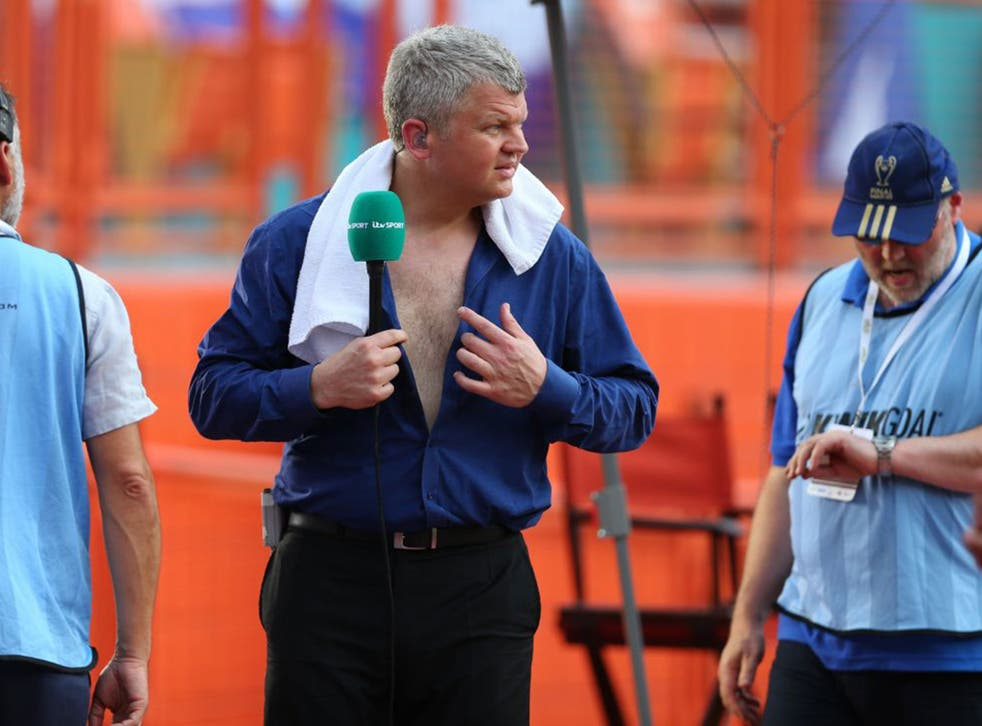 Chest the job: ITV's World Cup anchor Adrian Chiles – never knowingly under-Brummied