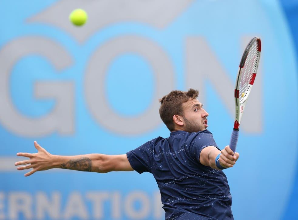 The Brit was beaten 6-2, 6-3 by Germany's Tobias Kamke