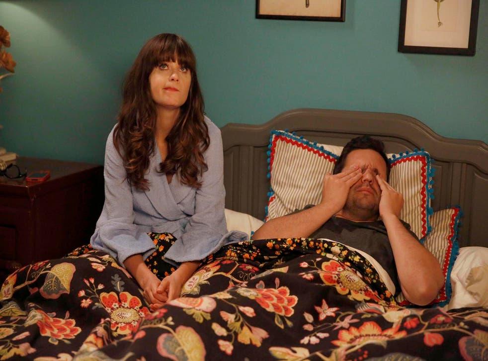 Jess (Zooey Deschanel) and Nick (Jake Johnson) in 'New Girl'