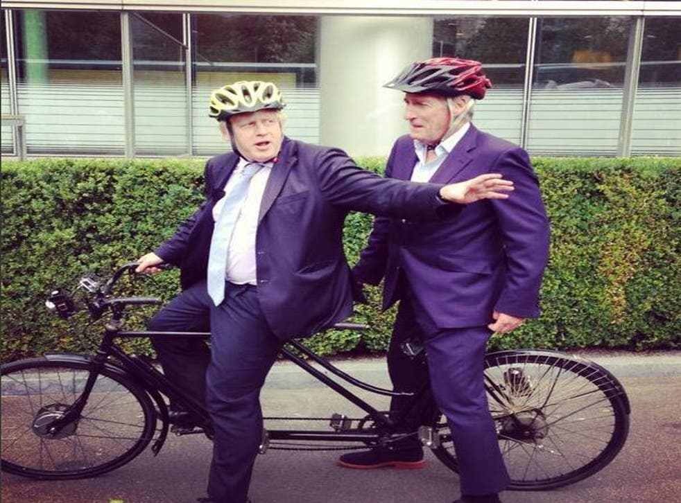 Newsnight teased Johnson and Paxman's bike ride on Twitter