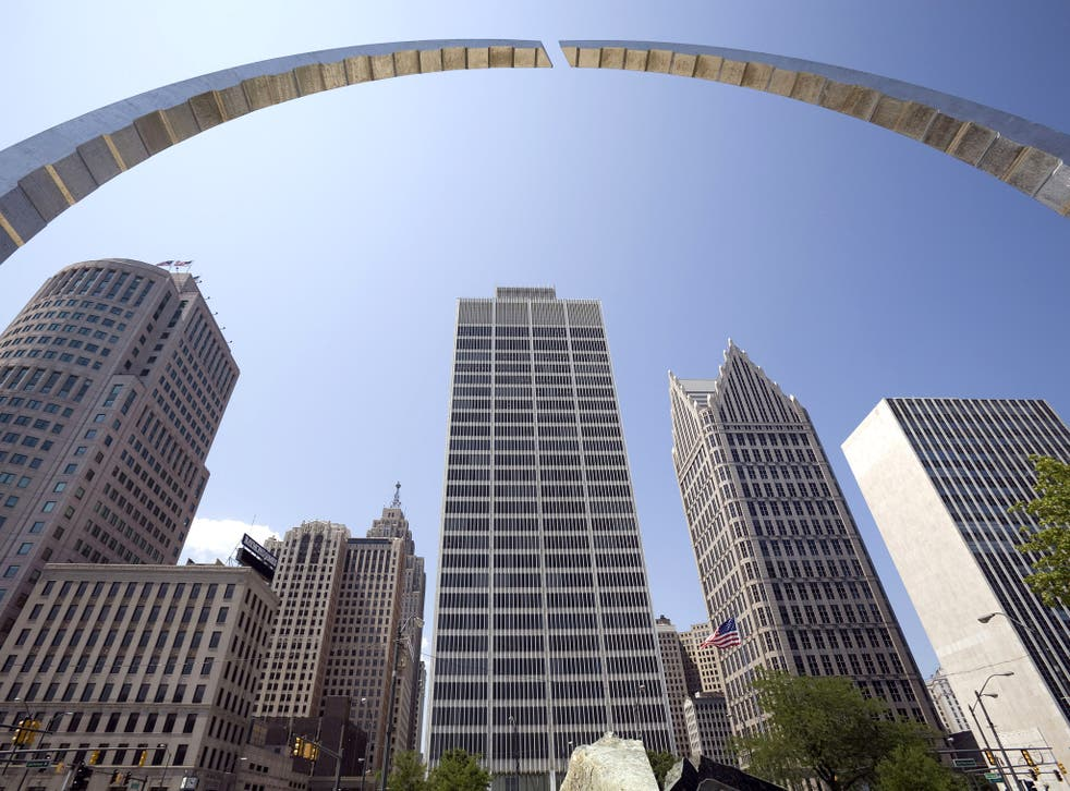 Skyscrapers in downtown Detroit, Michigan