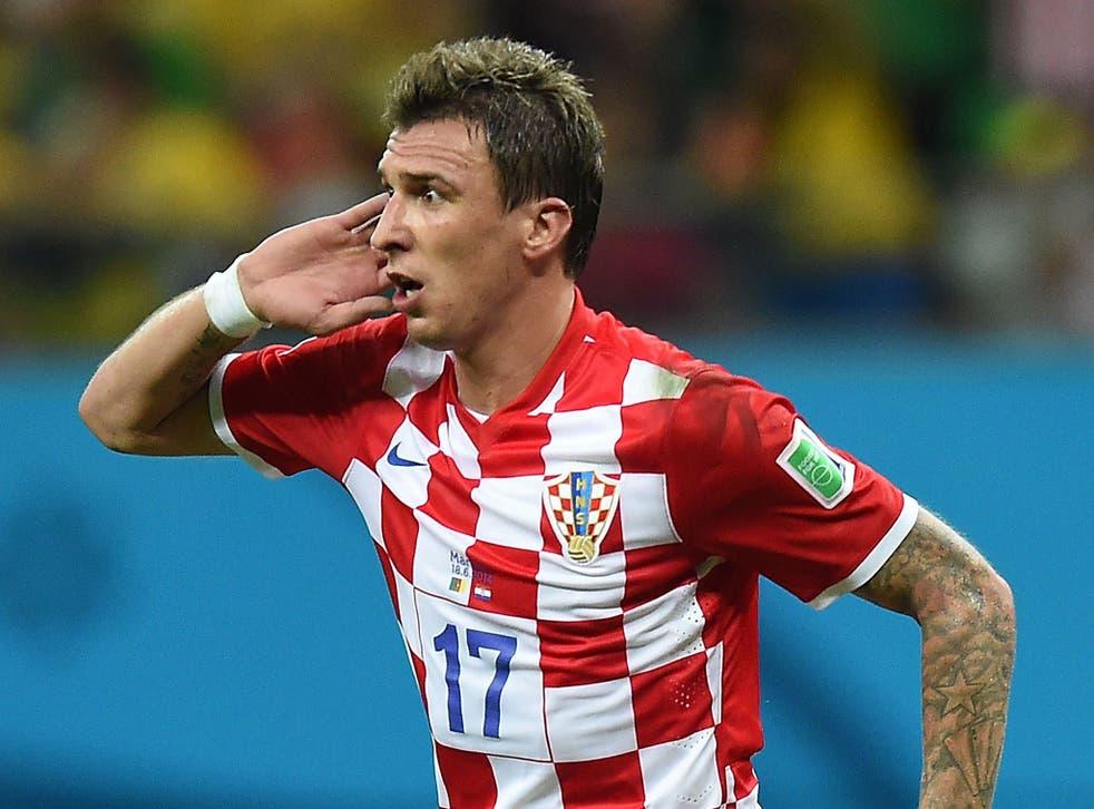 Mario Mandzukic in action for Croatia