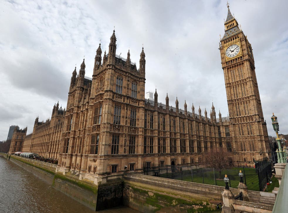 A picture shows the Houses of Parliament in Westminster, central London, on April 16, 2013, a day before the ceremonial funeral for former British prime minister Margaret Thatcher. The Iron Lady will be given a send-off full of pomp and ceremony involving