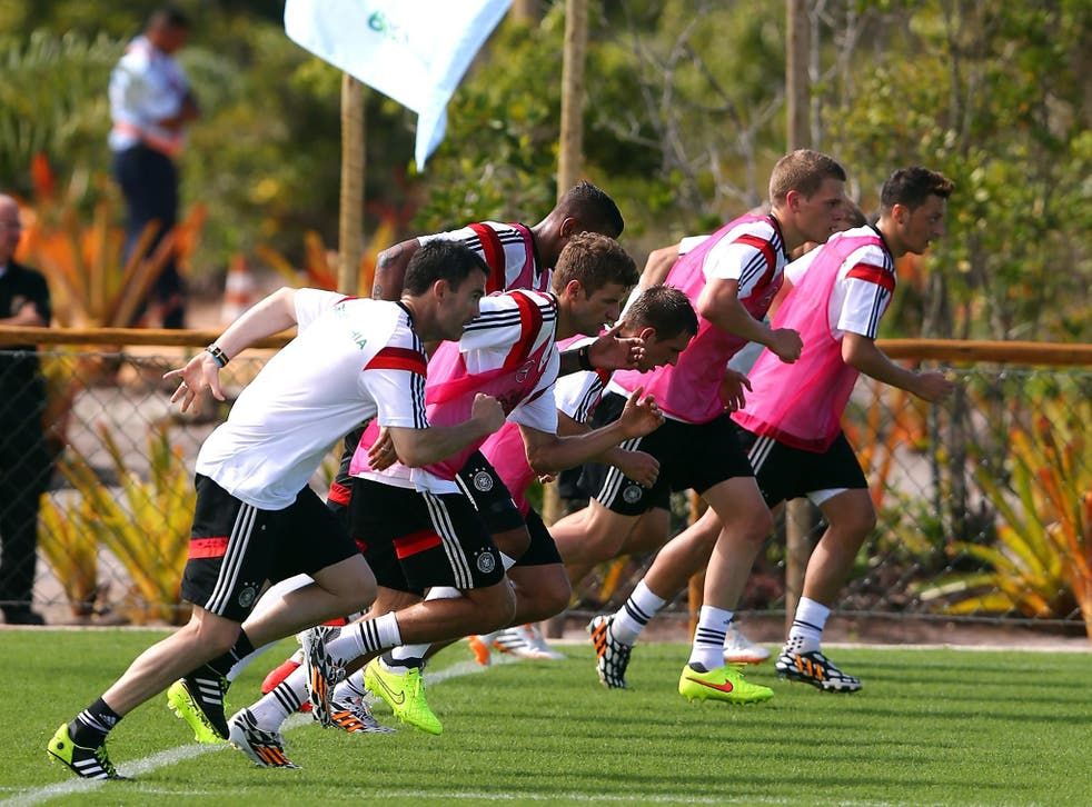 The German training pitch at Campo Bahia