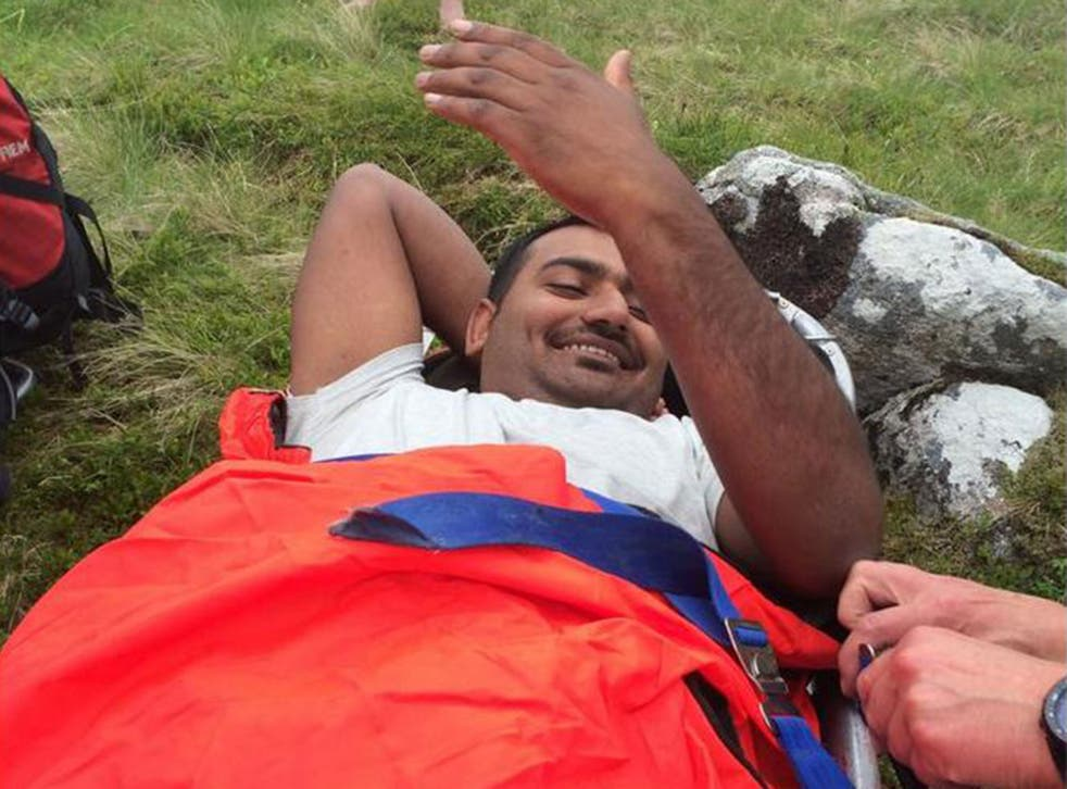The Lochaber Mountain Rescue Team took the injured man off the mountain.