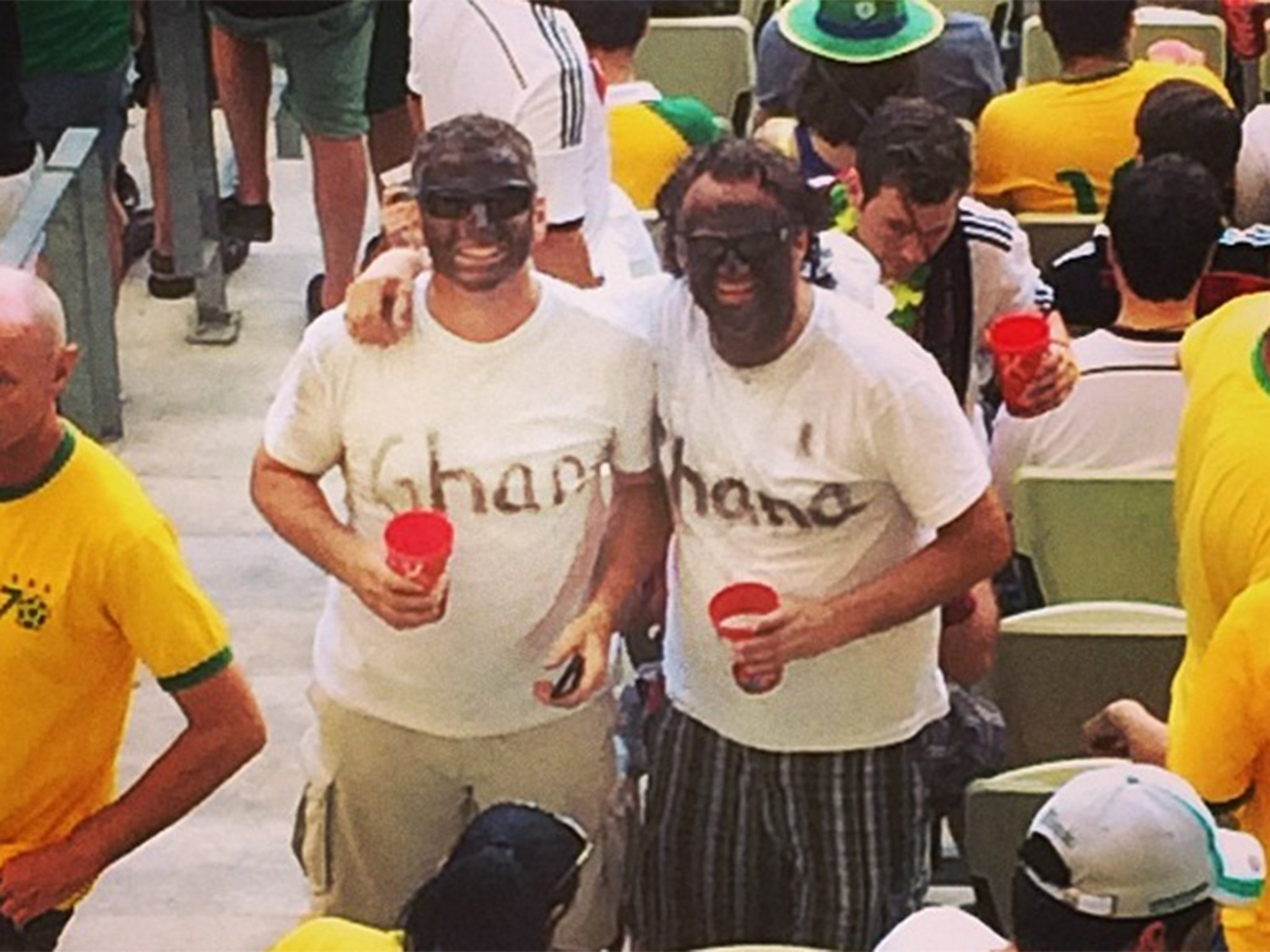 World Cup 2014: Fifa investigate image of fans wearing black face paint during Ghana vs Germany