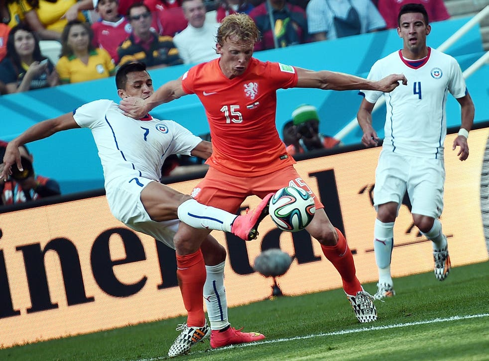 Dirk Kuyt in action for the Netherlands at the World Cup