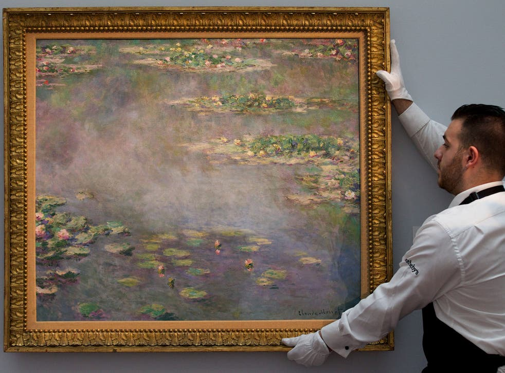 Claude Monet's 'Nympheas' sold for £32m at Sotheby's in London